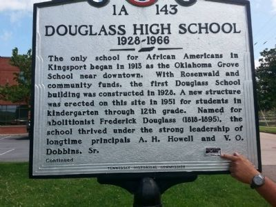 Douglass High School Marker image. Click for full size.