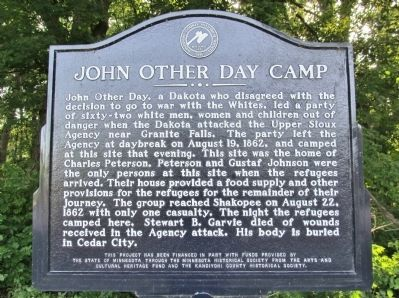 John Other Day Camp Marker image. Click for full size.