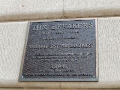 The Breakers Plaque image. Click for full size.