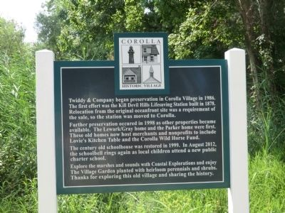 Corolla Historic Village Marker image. Click for full size.