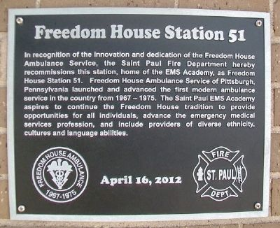 Freedom House Station 51 Marker image. Click for full size.
