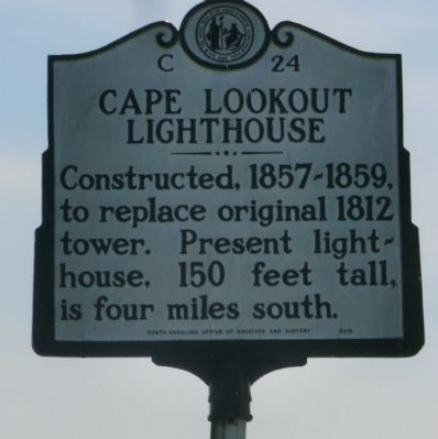 Cape Lookout Lighthouse Marker image. Click for full size.