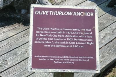 Olive Thurlow Anchor Marker image. Click for full size.