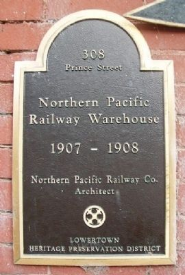 Northern Pacific Railway Warehouse Marker image. Click for full size.