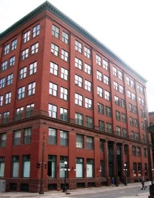 Former Saint Paul Rubber Company Building and Marker image. Click for full size.