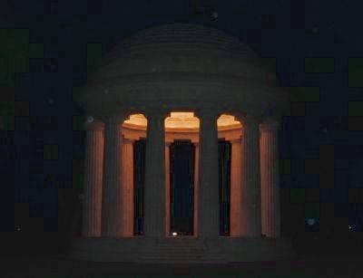 District of Columbia War Memorial at night image. Click for full size.