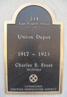 Union Depot Marker image. Click for full size.