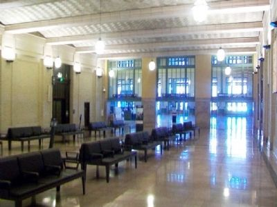 Hallway between Main Concourse and Waiting Room at Union Depot image. Click for full size.