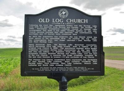 Old Log Church Marker image. Click for full size.