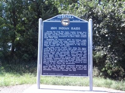 1864 Indian Raids Marker image. Click for full size.