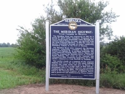 The Meridian Highway: From Canada to Mexico Marker image. Click for full size.