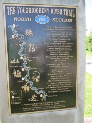 YRT Map and Contributors Plaque image. Click for full size.