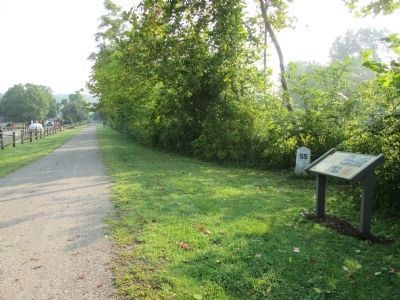 Connellsville Coke Marker and RR Milepost 55 image. Click for full size.