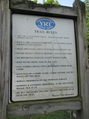 Connellsville Coke Marker - Trail Rules image. Click for full size.