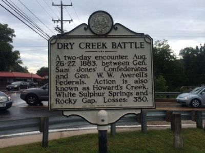 Nearby Dry Creek Battle Marker image. Click for full size.