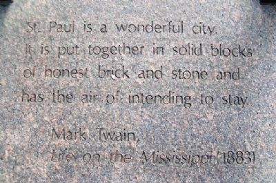 History of Saint Paul Chapel Marker Quote image. Click for full size.