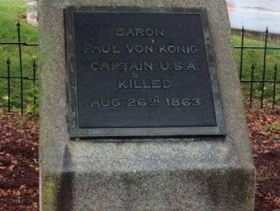 Capt. Paul Freiherr von König (killed during battle). image. Click for full size.
