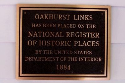 """Oakhurst"" Golf Club Historic Designation image. Click for full size."