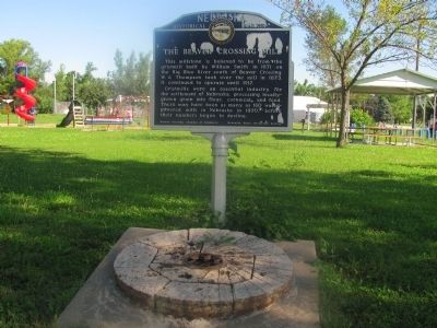 The Beaver Crossing Mill Marker image. Click for full size.