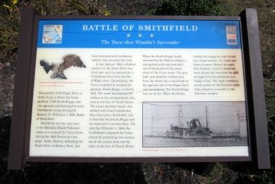 Battle of Smithfield Marker image. Click for full size.