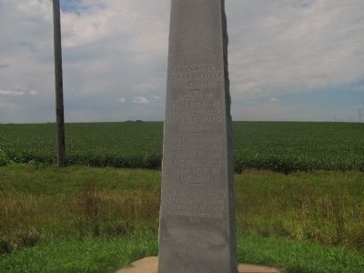 Erected to the memory of Bohemian pioneers in Saline County, Nebraska Marker image. Click for full size.