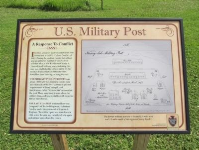 U.S. Military Post Marker image. Click for full size.