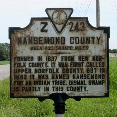 Nansemond County Marker image. Click for full size.