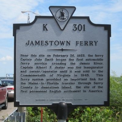 Jamestown Ferry Marker image. Click for full size.