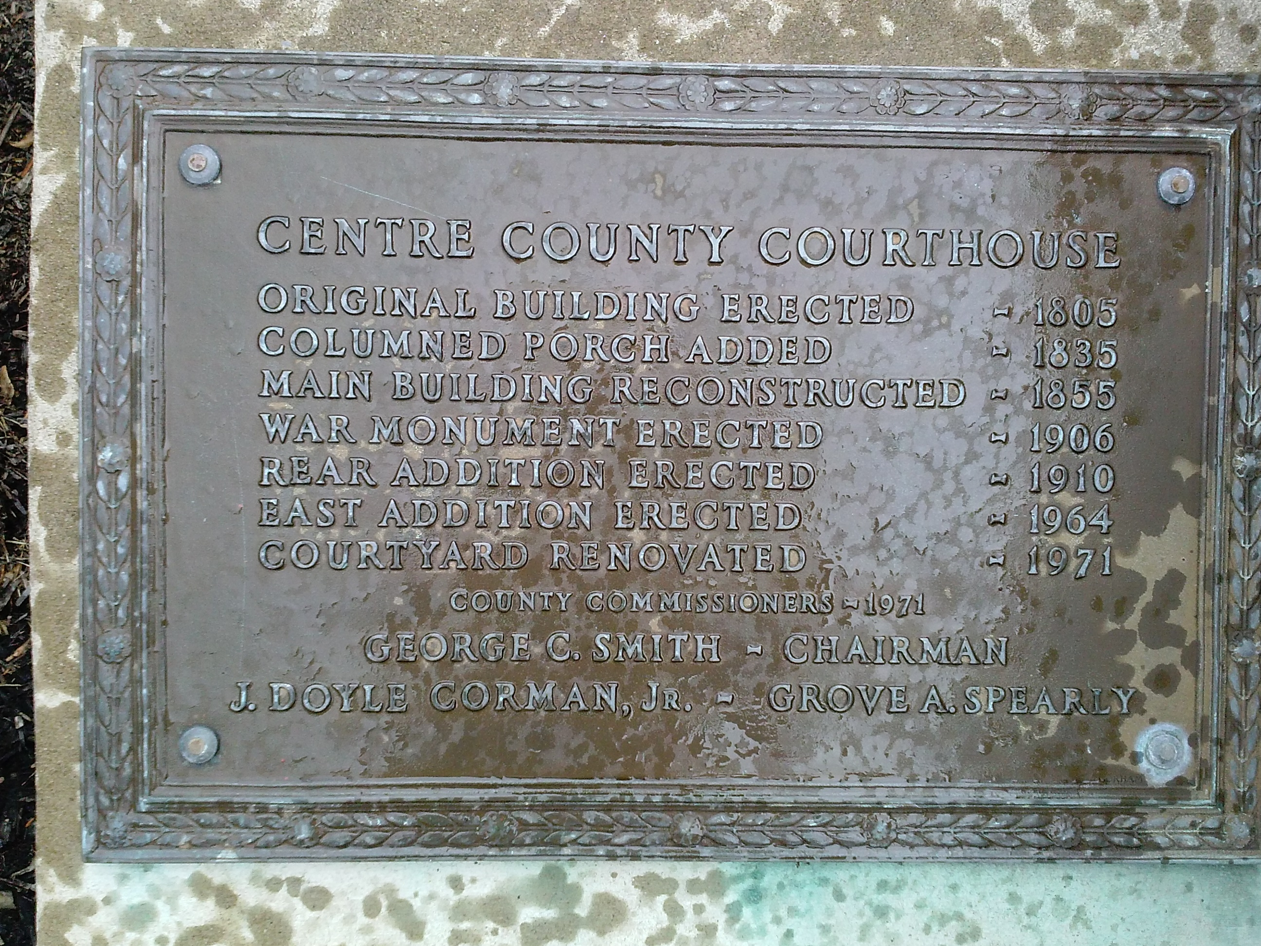 Centre County Courthouse Marker