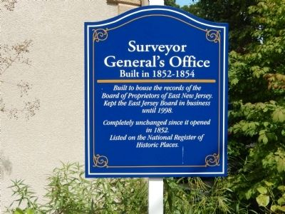Surveyor General's Office Marker image. Click for full size.