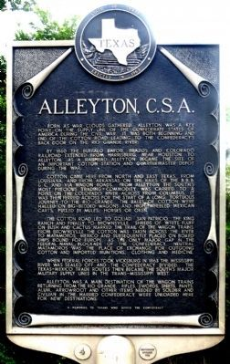 Yet another picture of the marker Alleyton C.S.A. Marker image. Click for full size.