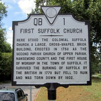 First Suffolk Church Marker image. Click for full size.