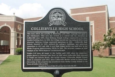COLLIERVILLE HIGH SCHOOL Marker image. Click for full size.