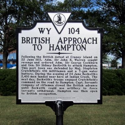 British Approach to Hampton Marker image. Click for full size.
