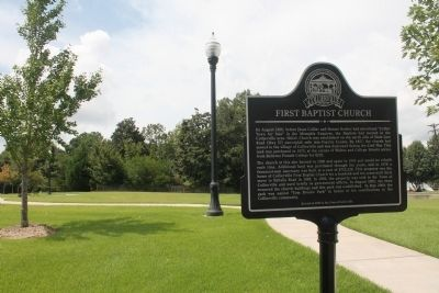 FIRST BAPTIST CHURCH Marker image. Click for full size.