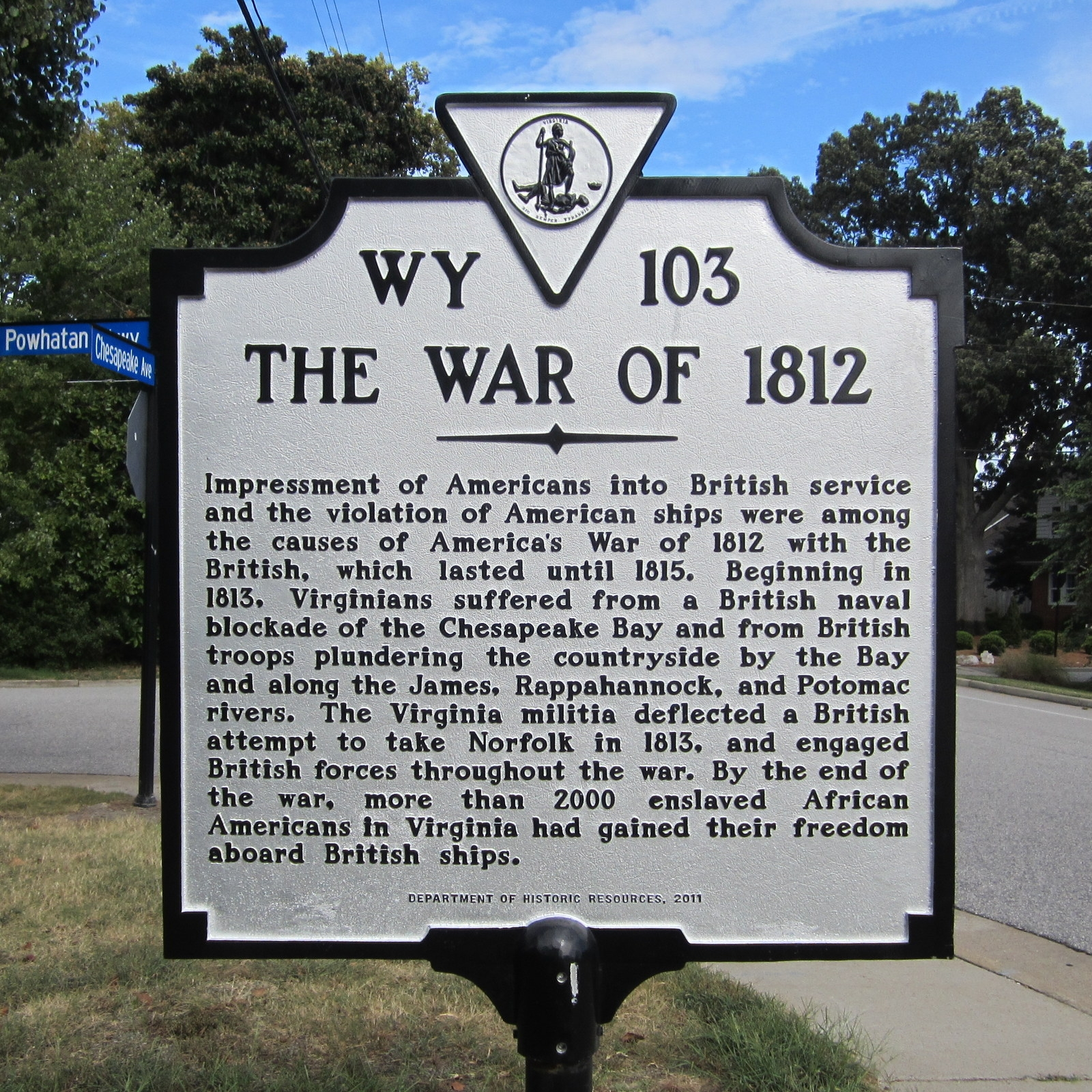 The War of 1812 Marker