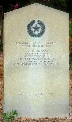 Benjamin Beason's Crossing Marker image. Click for full size.