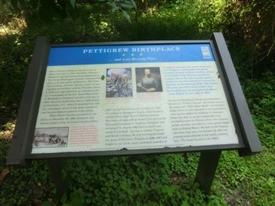 Pettigrew Birthplace Marker image. Click for full size.