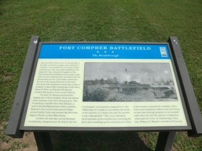 Fort Compher Battlefield Marker image. Click for full size.