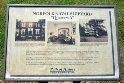 Norfolk Naval Shipyard Marker image. Click for full size.