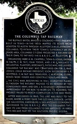 Columbus Tap Railway Marker image. Click for full size.