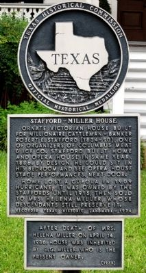 Stafford-Miller House Marker image. Click for full size.