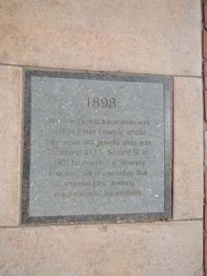 1898 Plaque, Laramie Timeline Marker image. Click for full size.