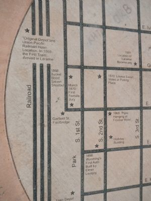 Laramie Map, detail image. Click for full size.