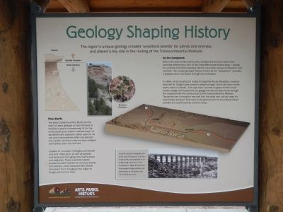Geology Shaping History Marker image. Click for full size.
