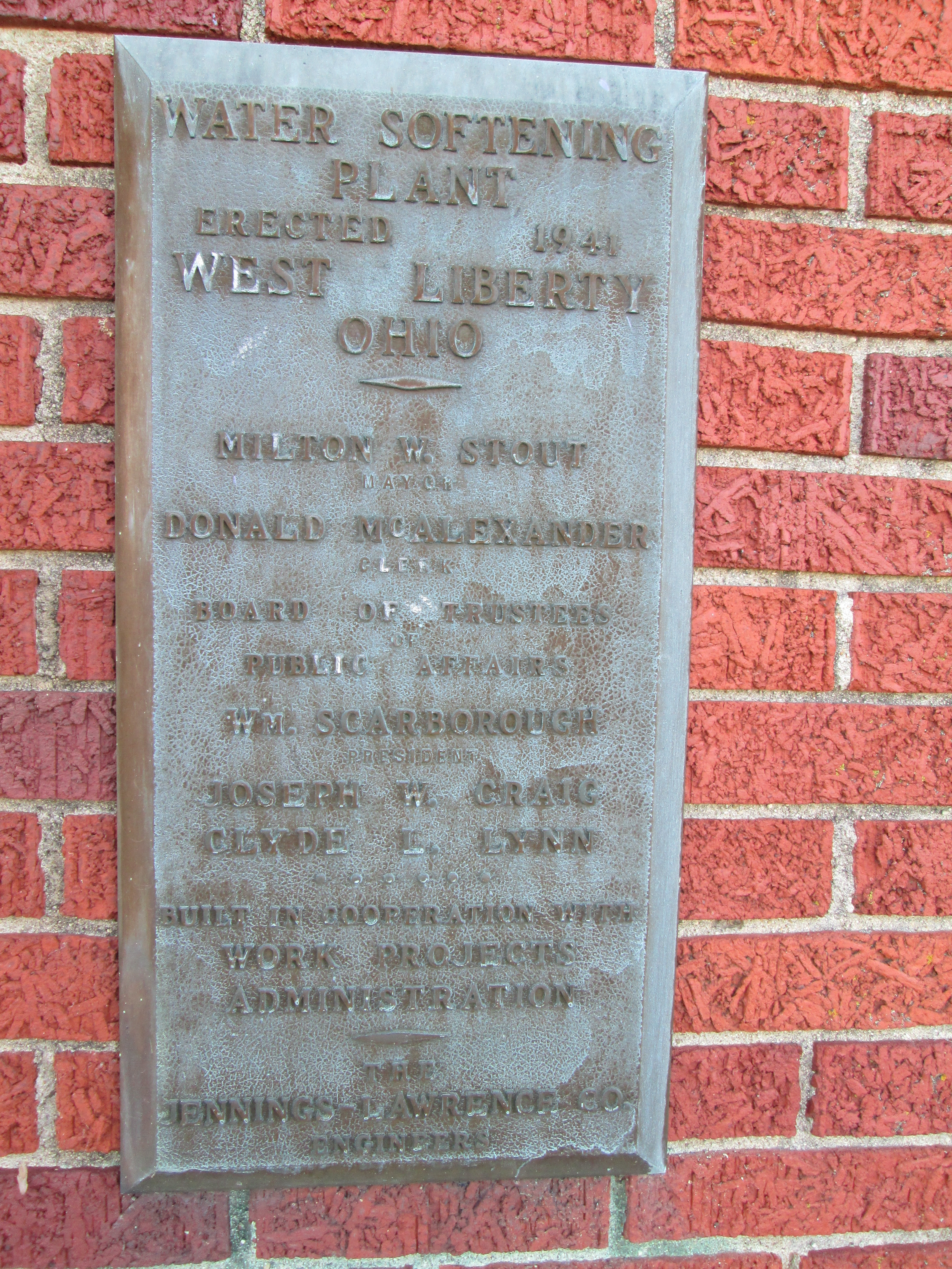 West Liberty Water Works Marker