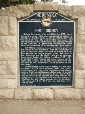 Fort Sidney Marker image. Click for full size.