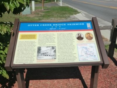 Otter Creek Bridge Skirmish Marker image. Click for full size.