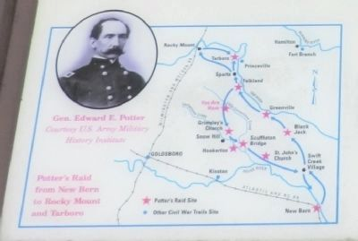 Close up of map on the Chasing Gen. Potter Marker image. Click for full size.