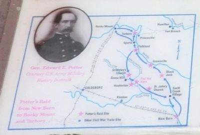 Close up of the map on the Scuffleton Bridge Marker image. Click for full size.